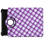 HOUNDSTOOTH2 WHITE MARBLE & PURPLE DENIM Kindle Fire HD 7  Front