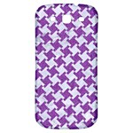 HOUNDSTOOTH2 WHITE MARBLE & PURPLE DENIM Samsung Galaxy S3 S III Classic Hardshell Back Case Front