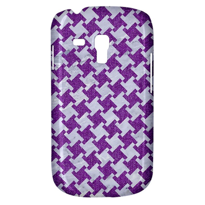 HOUNDSTOOTH2 WHITE MARBLE & PURPLE DENIM Galaxy S3 Mini