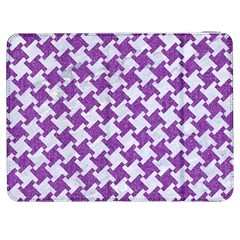 Houndstooth2 White Marble & Purple Denim Samsung Galaxy Tab 7  P1000 Flip Case