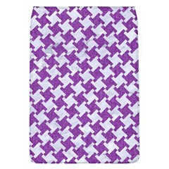 Houndstooth2 White Marble & Purple Denim Flap Covers (l)