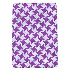 Houndstooth2 White Marble & Purple Denim Flap Covers (s)