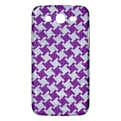 Houndstooth2 White Marble & Purple Denim Samsung Galaxy Mega 5 8 I9152 Hardshell Case