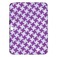 Houndstooth2 White Marble & Purple Denim Samsung Galaxy Tab 3 (10 1 ) P5200 Hardshell Case