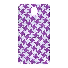 Houndstooth2 White Marble & Purple Denim Samsung Galaxy Note 3 N9005 Hardshell Back Case