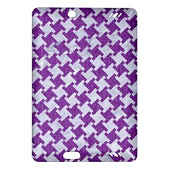 Houndstooth2 White Marble & Purple Denim Amazon Kindle Fire Hd (2013) Hardshell Case