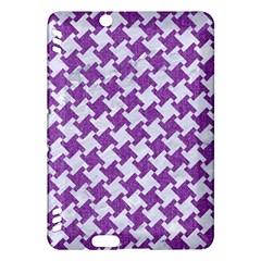 Houndstooth2 White Marble & Purple Denim Kindle Fire Hdx Hardshell Case