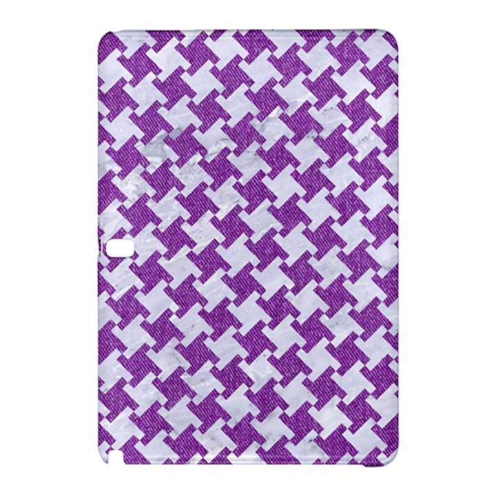 HOUNDSTOOTH2 WHITE MARBLE & PURPLE DENIM Samsung Galaxy Tab Pro 12.2 Hardshell Case