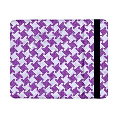 Houndstooth2 White Marble & Purple Denim Samsung Galaxy Tab Pro 8 4  Flip Case