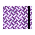 HOUNDSTOOTH2 WHITE MARBLE & PURPLE DENIM Samsung Galaxy Tab Pro 8.4  Flip Case Front