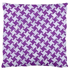 Houndstooth2 White Marble & Purple Denim Standard Flano Cushion Case (two Sides)