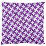 HOUNDSTOOTH2 WHITE MARBLE & PURPLE DENIM Standard Flano Cushion Case (Two Sides) Back