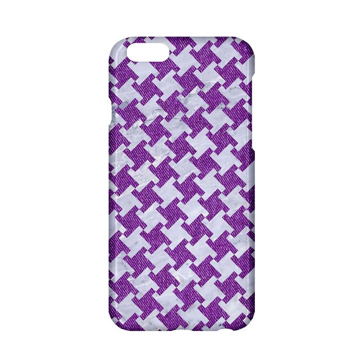HOUNDSTOOTH2 WHITE MARBLE & PURPLE DENIM Apple iPhone 6/6S Hardshell Case