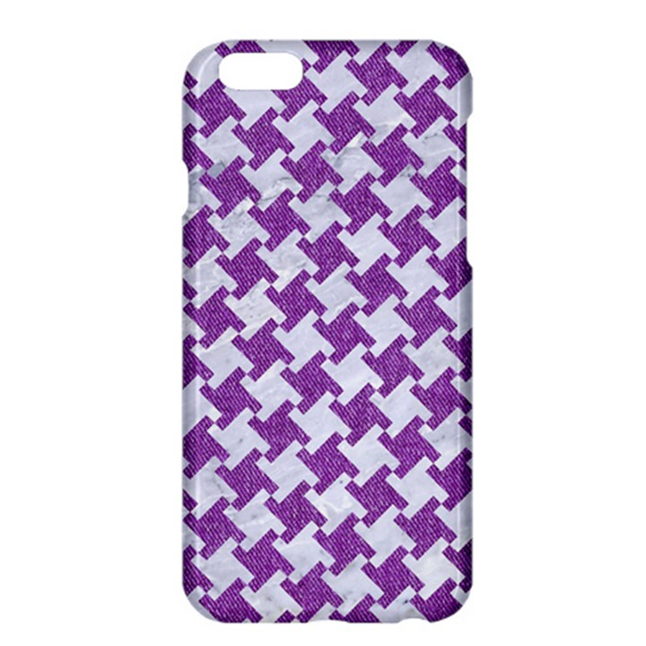 HOUNDSTOOTH2 WHITE MARBLE & PURPLE DENIM Apple iPhone 6 Plus/6S Plus Hardshell Case