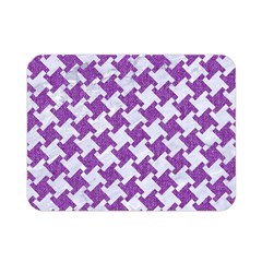 Houndstooth2 White Marble & Purple Denim Double Sided Flano Blanket (mini)