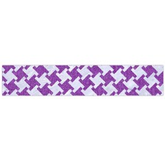 Houndstooth2 White Marble & Purple Denim Large Flano Scarf
