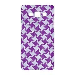 Houndstooth2 White Marble & Purple Denim Samsung Galaxy A5 Hardshell Case