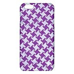 HOUNDSTOOTH2 WHITE MARBLE & PURPLE DENIM iPhone 6 Plus/6S Plus TPU Case Front