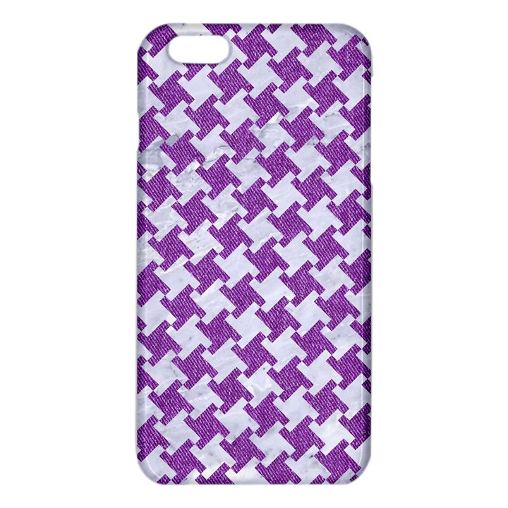 HOUNDSTOOTH2 WHITE MARBLE & PURPLE DENIM iPhone 6 Plus/6S Plus TPU Case