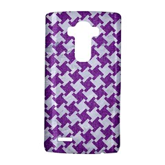 Houndstooth2 White Marble & Purple Denim Lg G4 Hardshell Case