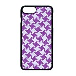 HOUNDSTOOTH2 WHITE MARBLE & PURPLE DENIM Apple iPhone 7 Plus Seamless Case (Black) Front