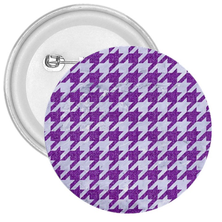 HOUNDSTOOTH1 WHITE MARBLE & PURPLE DENIM 3  Buttons
