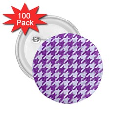 Houndstooth1 White Marble & Purple Denim 2 25  Buttons (100 Pack)