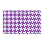 HOUNDSTOOTH1 WHITE MARBLE & PURPLE DENIM Magnet (Rectangular) Front