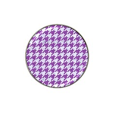 Houndstooth1 White Marble & Purple Denim Hat Clip Ball Marker (4 Pack)