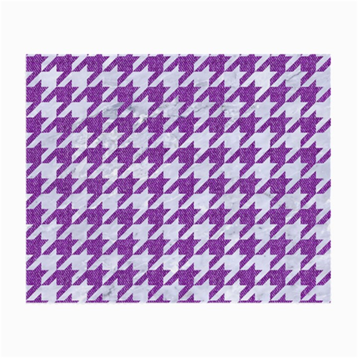 HOUNDSTOOTH1 WHITE MARBLE & PURPLE DENIM Small Glasses Cloth
