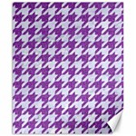 HOUNDSTOOTH1 WHITE MARBLE & PURPLE DENIM Canvas 8  x 10  10.02 x8 Canvas - 1