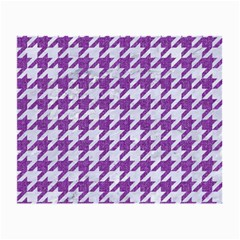 Houndstooth1 White Marble & Purple Denim Small Glasses Cloth (2 Side)