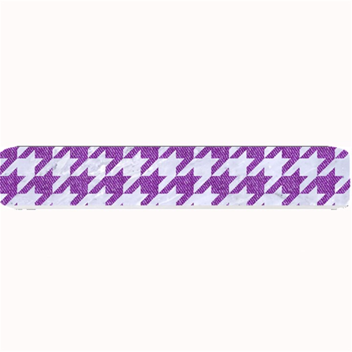 HOUNDSTOOTH1 WHITE MARBLE & PURPLE DENIM Small Bar Mats