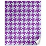 HOUNDSTOOTH1 WHITE MARBLE & PURPLE DENIM Canvas 11  x 14   14 x11 Canvas - 1