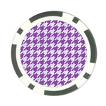 HOUNDSTOOTH1 WHITE MARBLE & PURPLE DENIM Poker Chip Card Guard Front