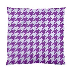 Houndstooth1 White Marble & Purple Denim Standard Cushion Case (one Side)