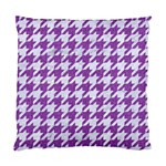 HOUNDSTOOTH1 WHITE MARBLE & PURPLE DENIM Standard Cushion Case (One Side) Front