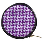 HOUNDSTOOTH1 WHITE MARBLE & PURPLE DENIM Mini Makeup Bags Front
