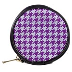 HOUNDSTOOTH1 WHITE MARBLE & PURPLE DENIM Mini Makeup Bags Back