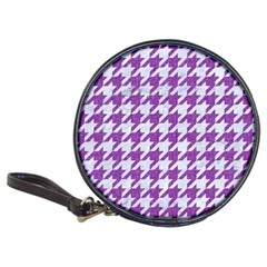 Houndstooth1 White Marble & Purple Denim Classic 20 Cd Wallets