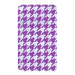 Houndstooth1 White Marble & Purple Denim Memory Card Reader