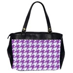 HOUNDSTOOTH1 WHITE MARBLE & PURPLE DENIM Office Handbags (2 Sides)  Back