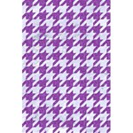 HOUNDSTOOTH1 WHITE MARBLE & PURPLE DENIM 5.5  x 8.5  Notebooks Front Cover