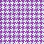 HOUNDSTOOTH1 WHITE MARBLE & PURPLE DENIM Magic Photo Cubes Side 1