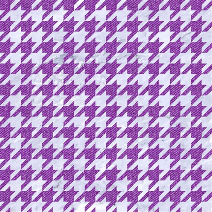 HOUNDSTOOTH1 WHITE MARBLE & PURPLE DENIM Magic Photo Cubes