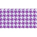 HOUNDSTOOTH1 WHITE MARBLE & PURPLE DENIM Magic Photo Cubes Long Side 1