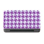 HOUNDSTOOTH1 WHITE MARBLE & PURPLE DENIM Memory Card Reader with CF Front