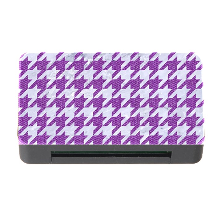 HOUNDSTOOTH1 WHITE MARBLE & PURPLE DENIM Memory Card Reader with CF