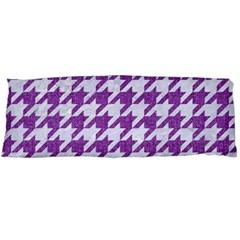 Houndstooth1 White Marble & Purple Denim Body Pillow Case (dakimakura)