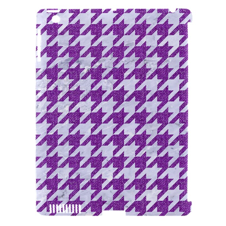 HOUNDSTOOTH1 WHITE MARBLE & PURPLE DENIM Apple iPad 3/4 Hardshell Case (Compatible with Smart Cover)